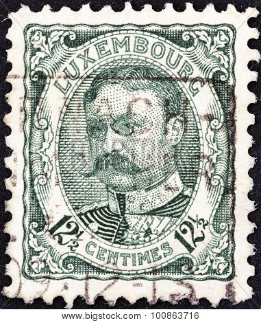 LUXEMBOURG - CIRCA 1906: A stamp printed in Luxembourg shows Grand Duke William IV