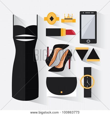 A Set Of Evening Dress For Women