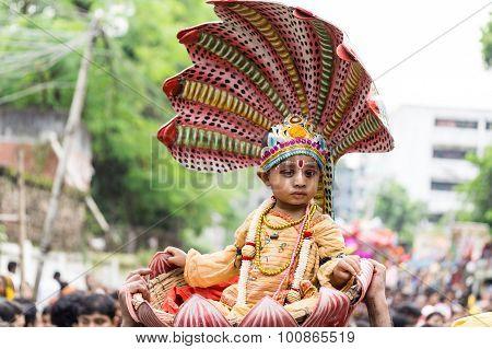 Children Dressed As Lord Krishna