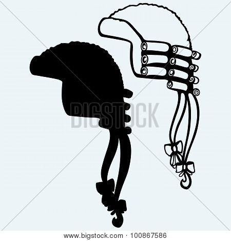 Antique horsehair judges wig