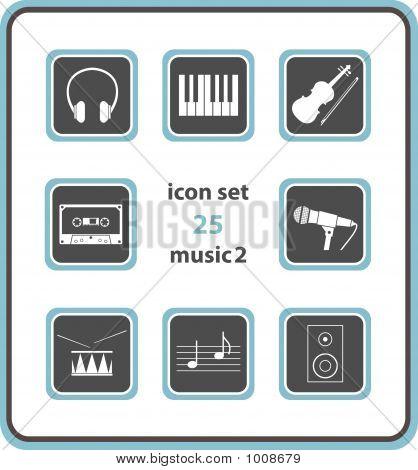 Vector Icon Set 25: Music 2