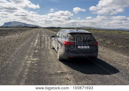Family Car In Iceland