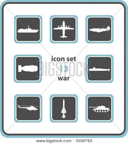 Vector Icon Set 13: War