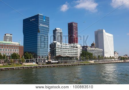 Skyscrapers In The Center Of Rotterdam, The Netherlands