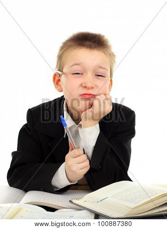 Annoyed Schoolboy