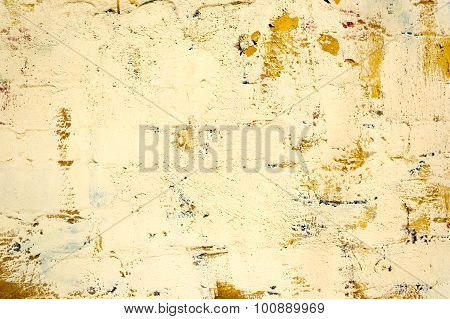 Yellow Concrete Wall Texture