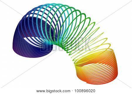 Rainbow Colored Plastic Slinky Toy