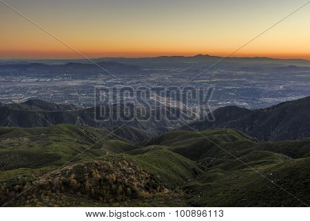 San Bernardino At Sunset Time