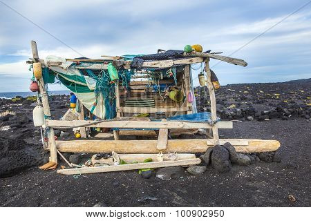 Abandoned Fishermans Hut At The Beach