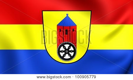 Flag Of Osnabruck Landkreis (lower Saxony), Germany.