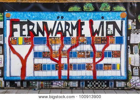 Sign Fernwaerme Wien  In Vienna