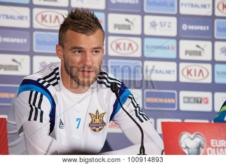 Ukrainian National Soccer Team Player Andriy Yarmolenko