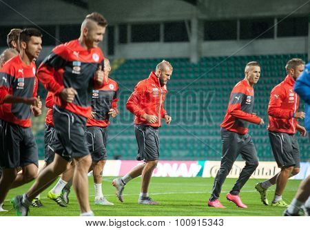 Adam Nemec And Slovak National Soccer Team Players