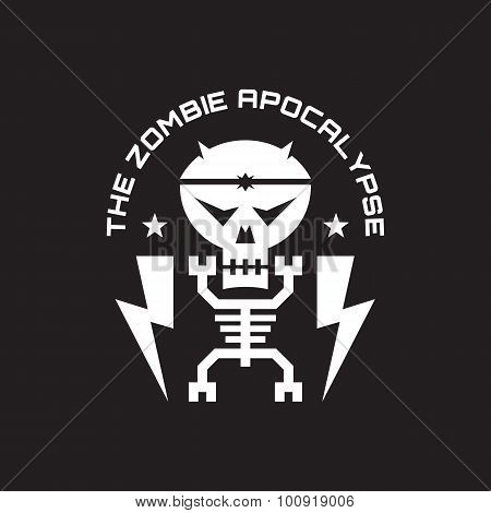 The zombie apocalypse - vector badge concept illustration for t-shirt, poster etc.
