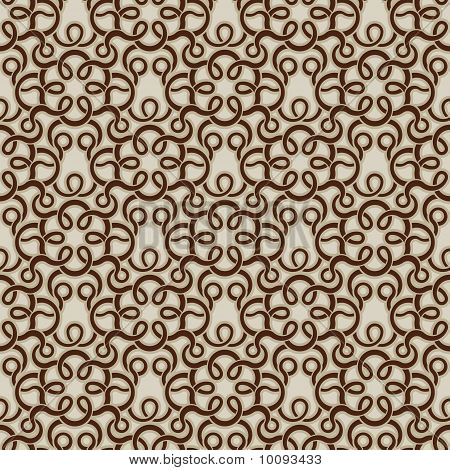Brown seamless wallpaper pattern for design. Vector illustration poster