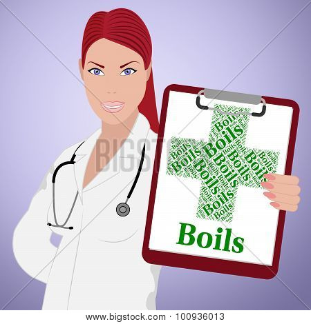 Boils Word Means Ill Health And Affliction