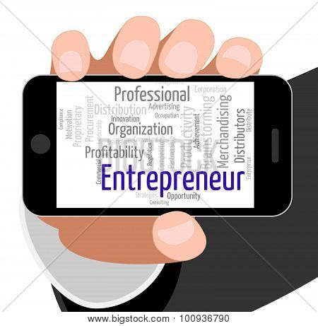 Entrepreneur Word Means Business Person And Businessman