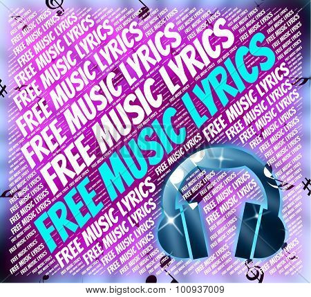 Free Music Lyrics Indicates With Our Compliments And Complimentary