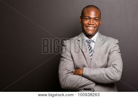 portrait of happy young afro american business man looking at the camera