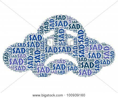 Sad Word Means Broken Hearted And Depressed