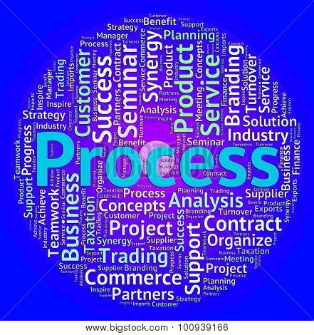 Process Word Means System Proceeding And Task