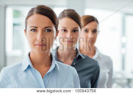 Successful Women Entrepreneurs Posing