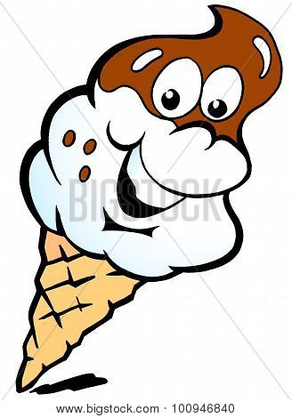 Vector Illustration Of An Happy Ice Creame