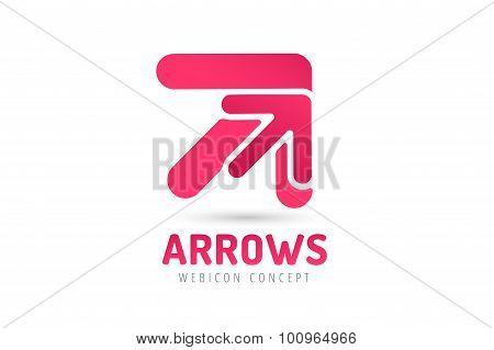 Vector arrow icon abstract logo template