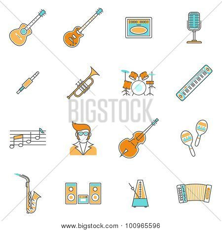 Music Icons Line Set