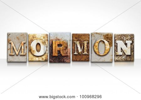 Mormon Letterpress Concept Isolated On White