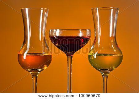 Glasses With Liquor