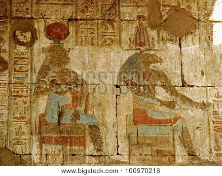 Temple Wall at Edfu