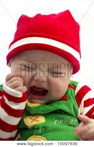 Unhappy Christmas Baby