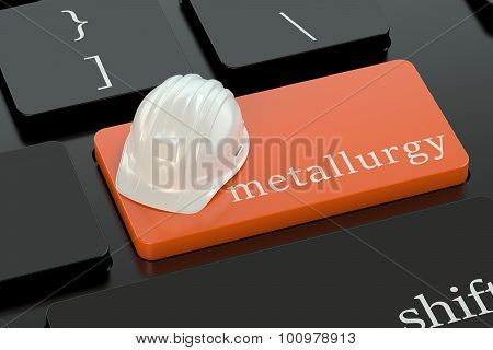Metallurgy  Concept On Keyboard Button