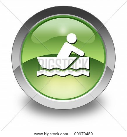 Image Icon Button Pictogram with Rowboating symbol poster