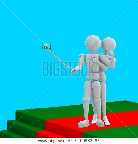 Selfi Together On Red Carpet