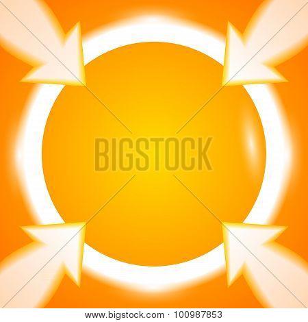 Round-frame-arrows-bright-orange-background