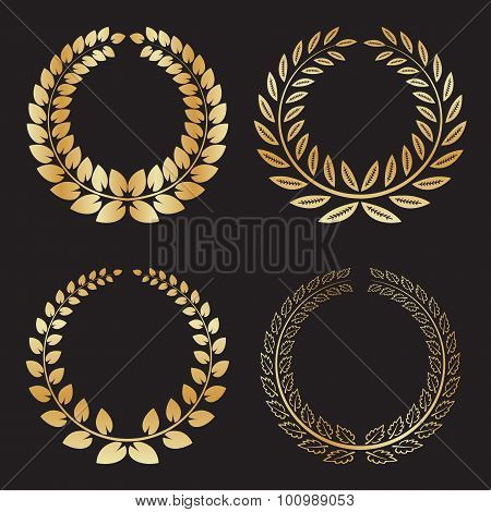 Set Of Isolated Wreath Logos