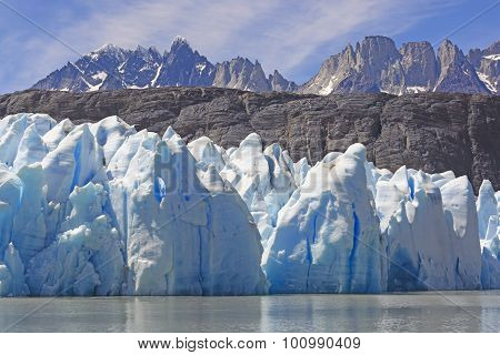 Ice, Rocks And Mountains