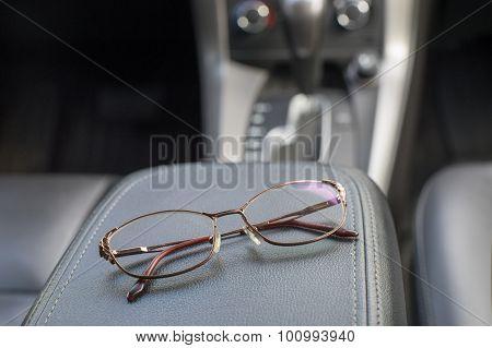 Night Driving Glasses In Car Interior