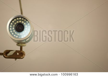 Round shape CCTV.