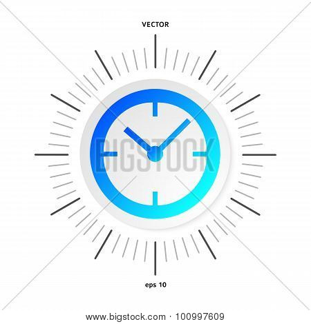 Time-clock-icon-isolated-white-background