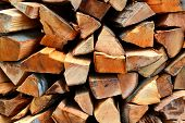 Big pile of firewood logs and blocks poster