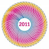 Circle Calendar grid 2011 Template. For Lage scale. Vector Illustration poster