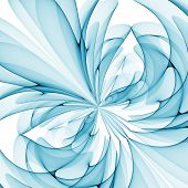blue flower aqua abstract on white background poster