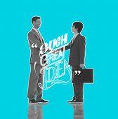 Idea Complement Brilliant Teamwork Motivation Concept poster