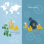 World banking system money transfer world map transactions online payments banking business finance vector banners poster