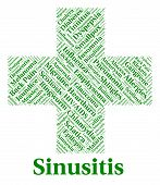 Sinusitis Illness Representing Poor Health And Sickness poster