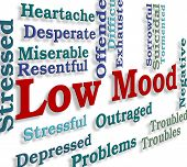 Low Mood Representing Broken Hearted And Inconsolable poster