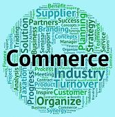 Commerce Word Indicating Import Commercial And E-Commerce poster